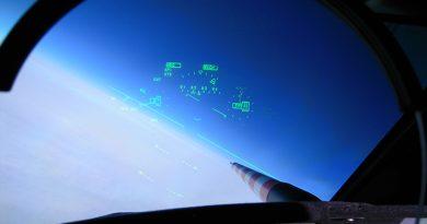 """Ausblick aus dem Cockpit des Forschungsflugzeugs """"halo"""""""