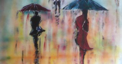 Bild gemalt von Wolfram Pierenkemper - Regenträume