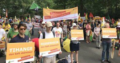 """""""Atomrisiko jetzt beenden!"""", Demo in Lingen, 9. Juni 2018 - Foto: Hanna Podig"""