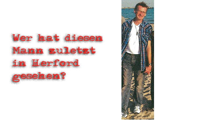 Vermisste Person in Herford