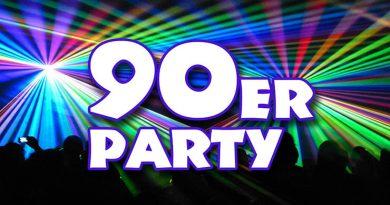 90er Jahre Party im Universum