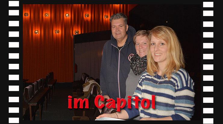 Christoph Maier, (Capitol Kino Herford), Laetitia Müller und Anna-Lena Mügge (Klimaschutz Stadt Herford und Kreis Herford): Laden ein in Herforder Capitol-Kino