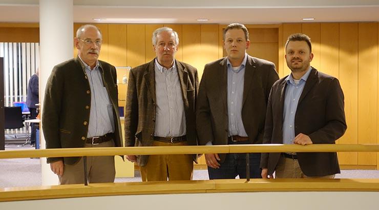 v.l.n.r. Fritz Wiegand, Jochen Meyer zu Bexten, Matthias Ebmeyer und CDU Kreistagsfraktionsvorsitzender Michael Schönbeck