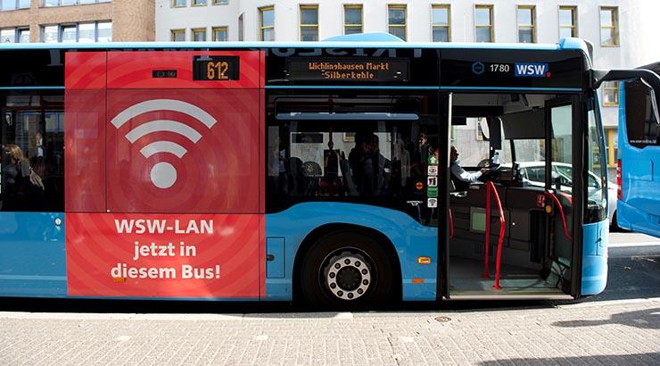 Öffentliche Busse mit WLAN