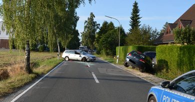Parkenden Golf übersehen- Auto überschlägt sich