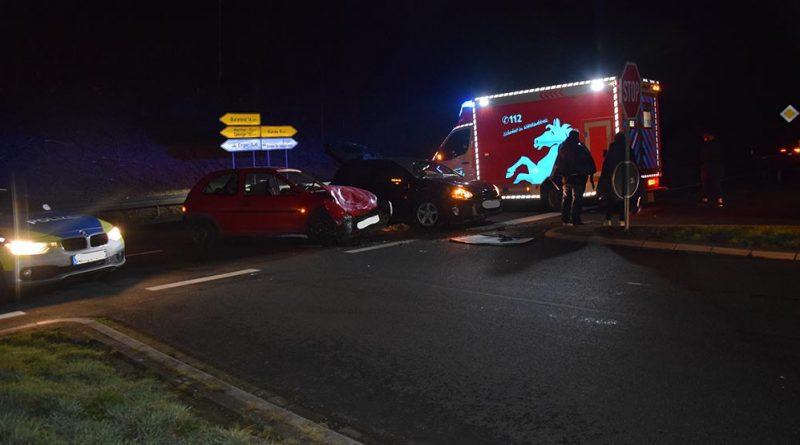 Unfall auf Westfalenring- Beide Fahrzeugführer verletzt
