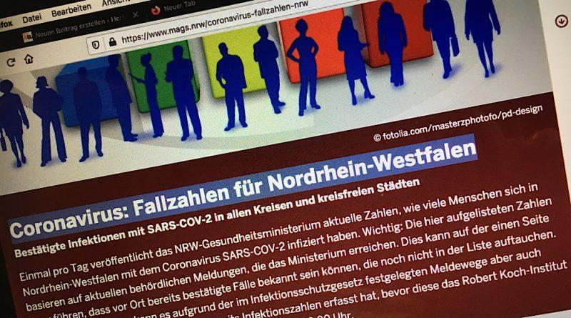 Coronavirus: Fallzahlen für Nordrhein-Westfalen