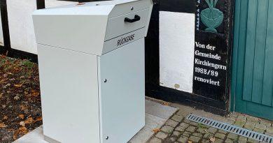 Außenrückgabebox für die Gemeindebücherei
